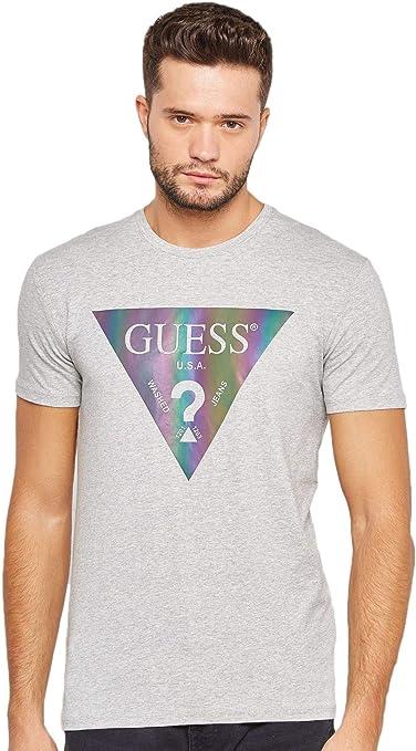 Guess M83i28 - Camiseta para hombre, color gris, Gris (gris ...