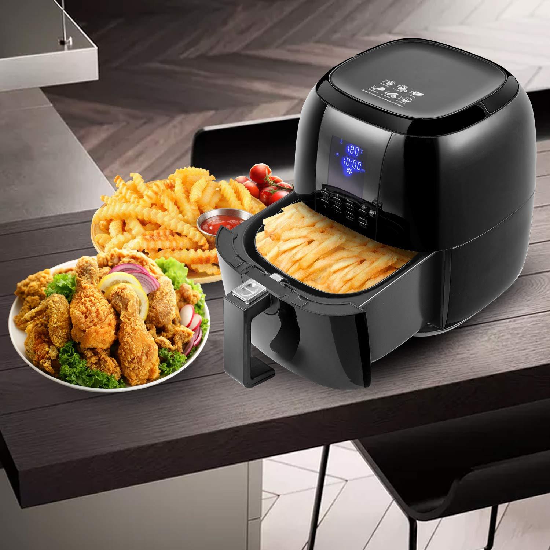 Sinoartizan Air Fryer Deep Fryer Oven Electric Airfryer 4.2 Quart 1400 Watt Oil Free Electirc Hot Air Fryer Deep Fryer Electric Oven With Basket And Cookbooks For Home Kitchen by Sinoartizan (Image #2)