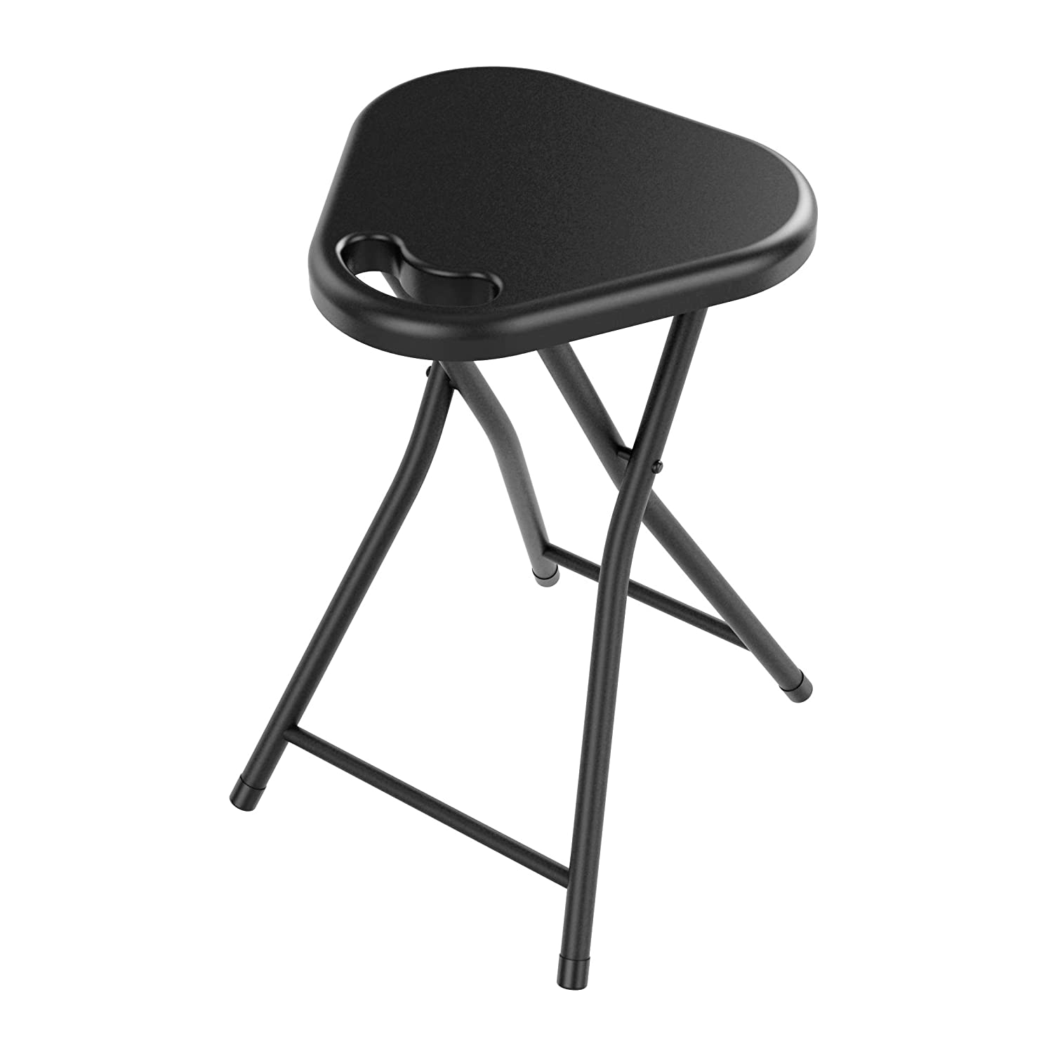 Amazon.com Atlantic Folding Stool with Handle Black (4-Pack) Kitchen u0026 Dining  sc 1 st  Amazon.com : portable collapsible stool - islam-shia.org