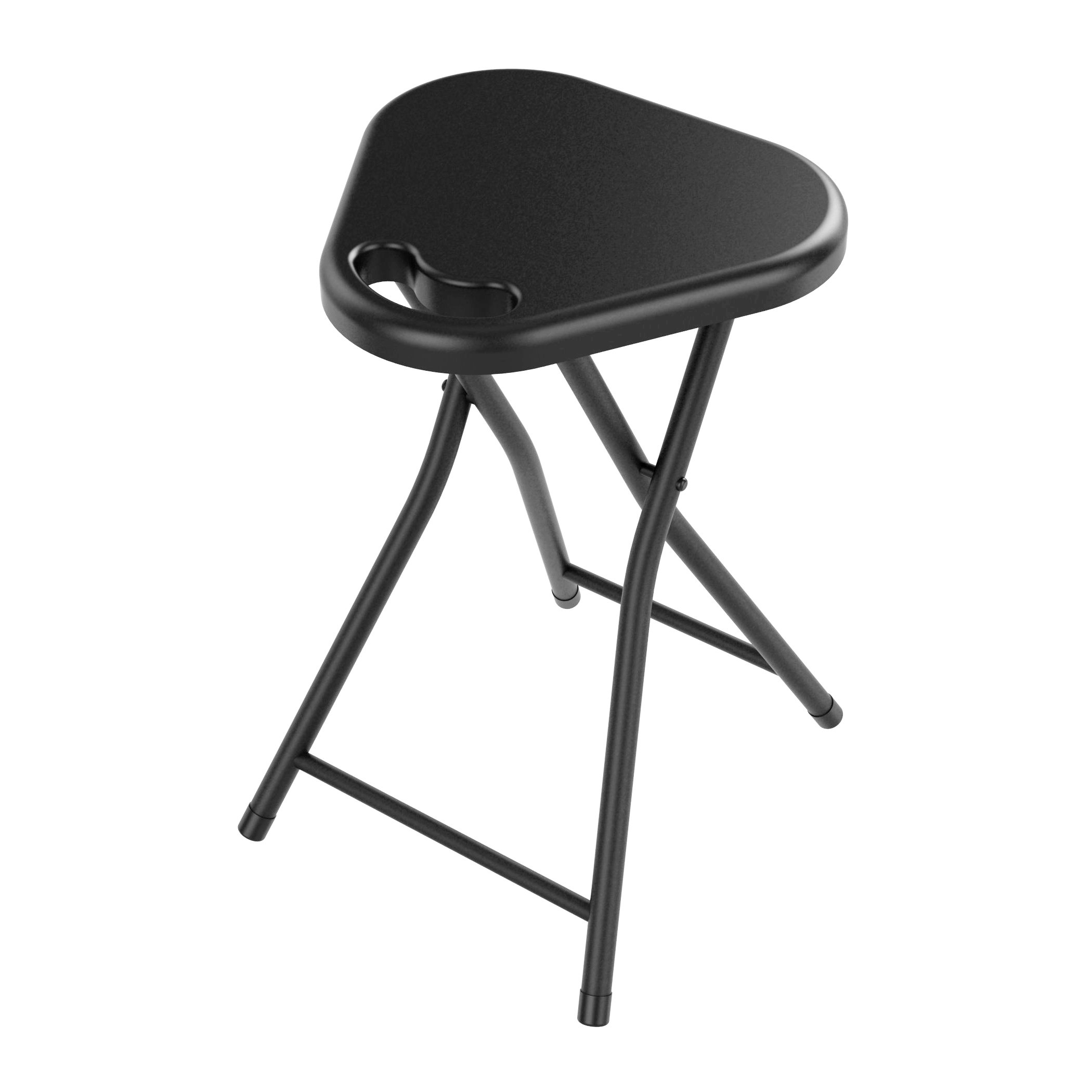 Atlantic Folding Stool with Handle, Black (4-Pack)