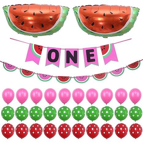 Amazoncom Simla Decor Watermelon Theme Baby Shower Banner Kits 1st