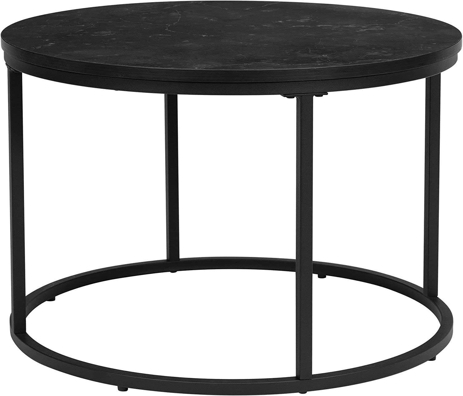 Ball & Cast Round Table, Black