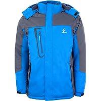 LONGCLASS atmungsaktive Wintersport Funktionsjacke Windbreaker sportlich leichte Outdoor Jacke mit Wasserdichter Membrane Regenjacke Winter Sport Herren blau M L XL XXL