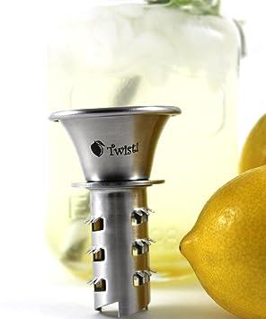 Exprimidor de cítricos, acero inoxidable lima limón exprimidor manual y Escariador: Amazon.es: Hogar
