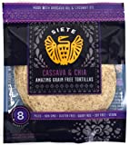 Siete Cassava Flour & Chia Seed Tortillas, Paleo Approved, 8 count (1 Pack - 8 Tortillas)