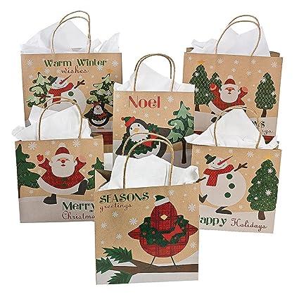 Amazon One Dozen Paper Christmas Craft Bag Assortmentchristmas