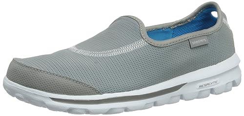 Skechers GO Walk Recovery - Zapatillas de material sintético mujer, color gris, talla 35: Amazon.es: Zapatos y complementos
