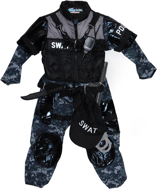Adventure Factory Disfraz de policía SWAT para niño (3-4): Amazon ...
