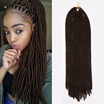 amazon com 24 2packs handmade dreads dark brown braiding hair