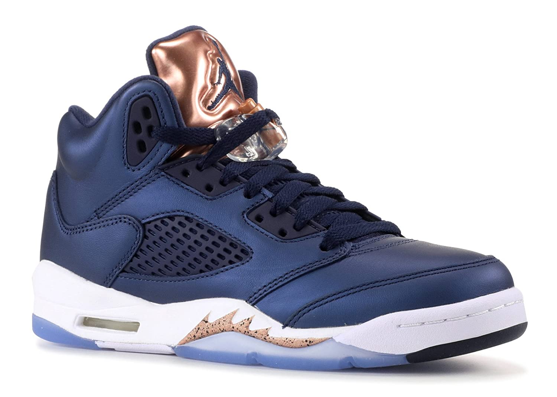 new style 78a53 05463 NIKE Boys Jordan 5 Retro BP Bronze Medal Obsidian/White-Bronze Leather Size  3.5Y