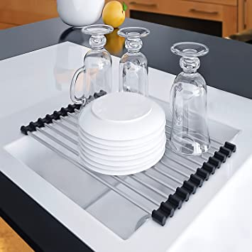 Dish Drying Rack Sink Caddy | Use In Corner Shelf, Kitchen Cabinets For  Gadgets,