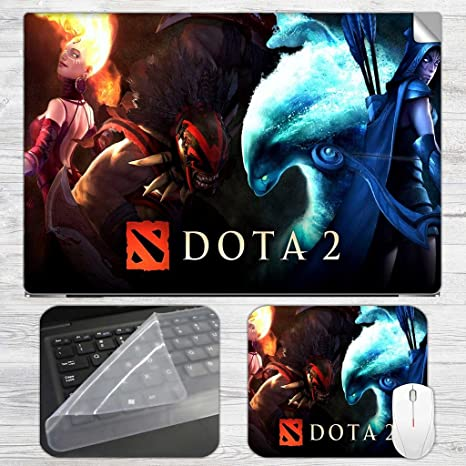 DOTA 2 Laptop Skin + Mousepad Combo with High Quality printed Laptop skins  for all HP, DELL, ASUS, SONY, SAMSUNG, ACER Laptops upto 15 6-inch Screen