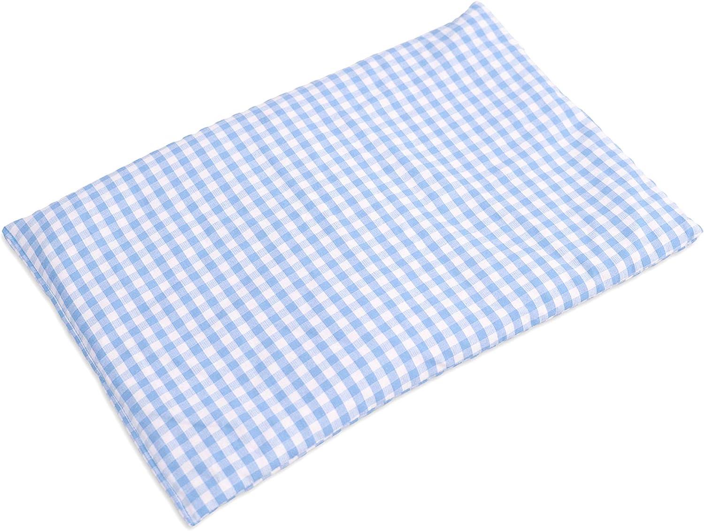 bleu-ciel et blanc Compresse froide   Coussin thermique Coton Bio 30x20cm Bouillotte s/èche Coussin aux graines de colza