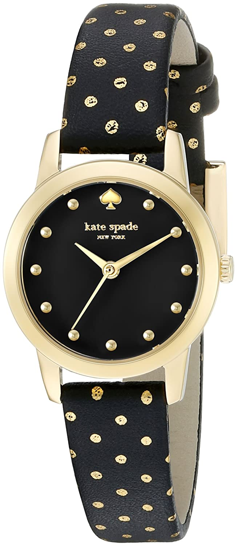 Kate Spade New York Metro Mini Polka Dot Damen-Armbanduhr 25mm Armband Leder Multicolor Quarz 1YRU0890A