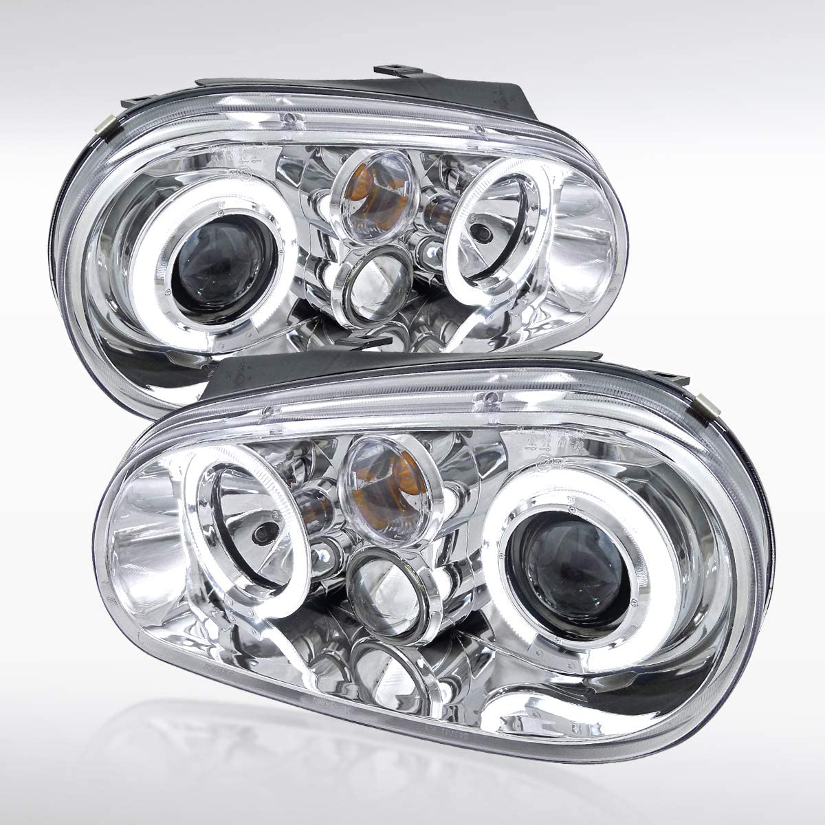 Autozensation For Volkswagen Golf GTI MK4 Chrome Halo Projector Fog Headlights