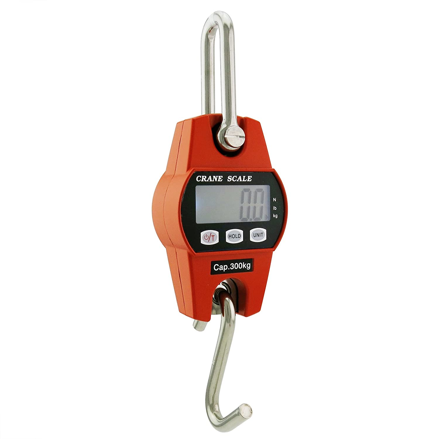 Outmate Mini Digital Crane Scale 300kg 600lbs With Ledaluminium Tach Adapter Wiring Alloy Caseorange Business Industry Science