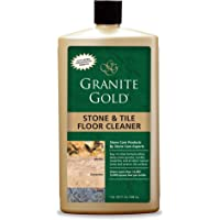 Granite Gold Stone And Tile Floor Cleaner - No-Rinse Deep Cleaning Granite, Marble, Travertine, Ceramic Solution - 32…