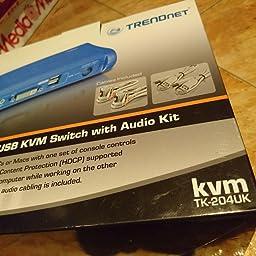 TRENDnet TK-204UK - Kit de conmutador KVM USB DVI de 2 Puertos con ...