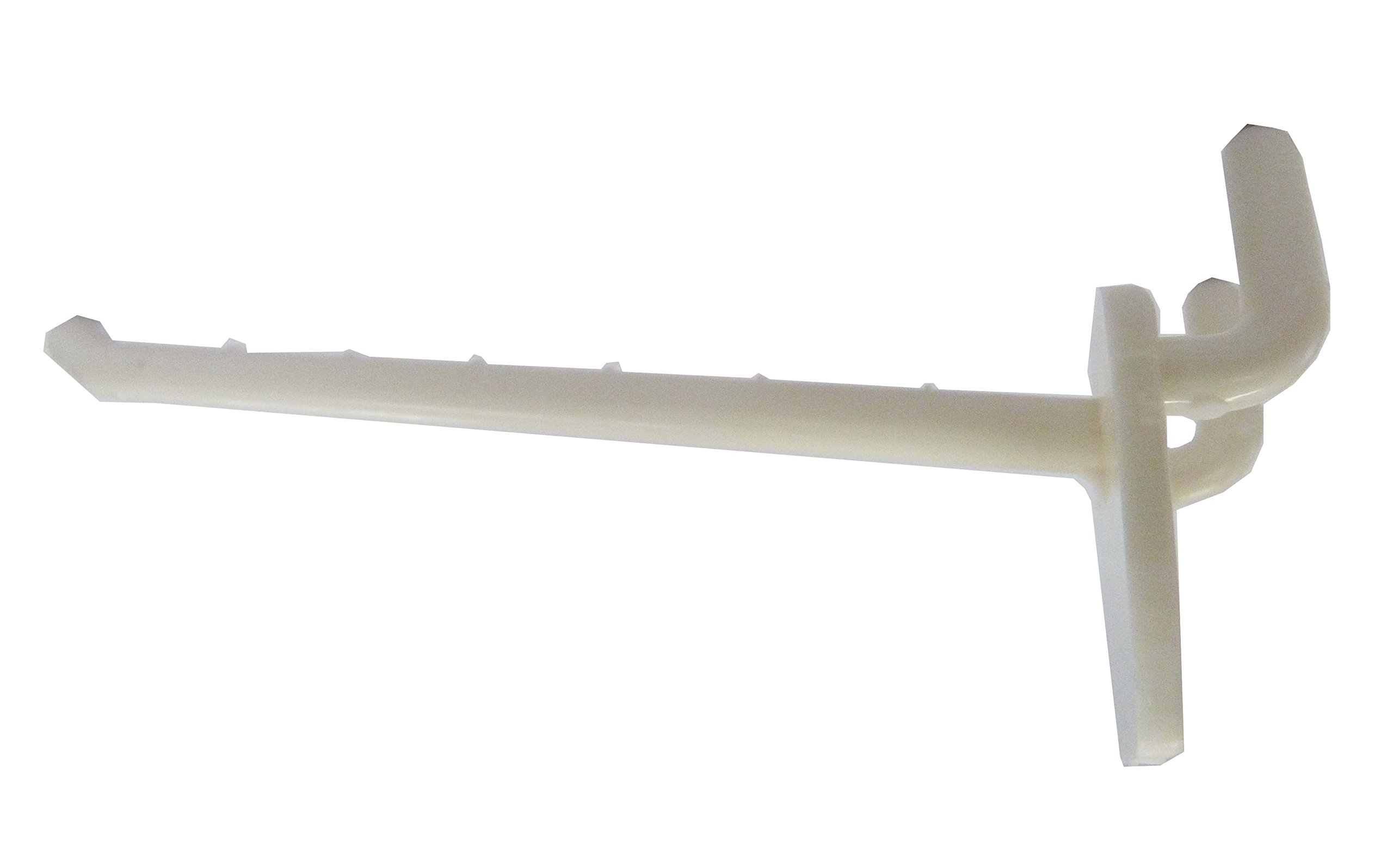 Fixture Displays 100PK Plastic Peg Hook 4-1/2'' Plastic Peg Hook in White Plastic 101717