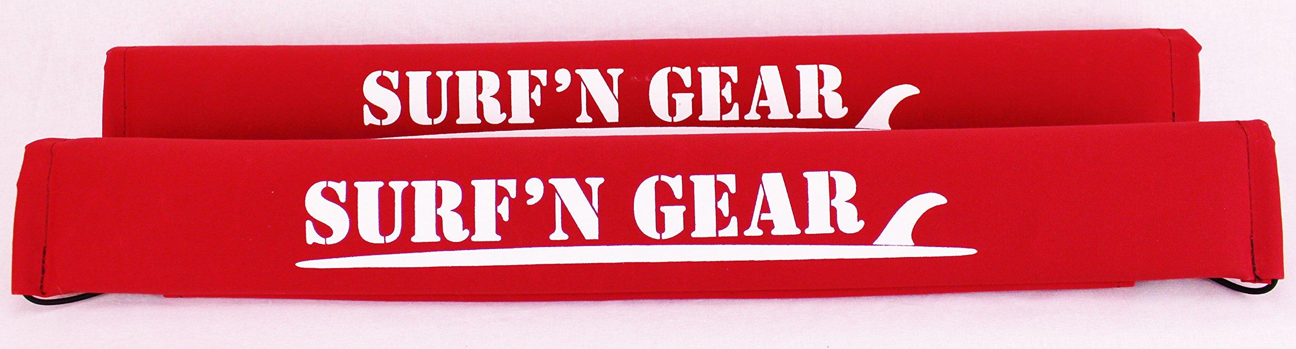 Surf'n Gear 24'' Fade Proof Regular Roof Rack Pads - Red by Surf'n Gear