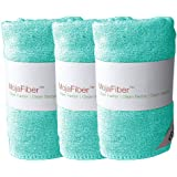 "Plush MojaFiber Microfiber Face Cloth: Ultra Dense 3 Pk 12"" x12"" 