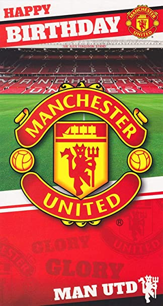 Manchester United Personalised Birthday Card Son Grandson Nephew Dad Football