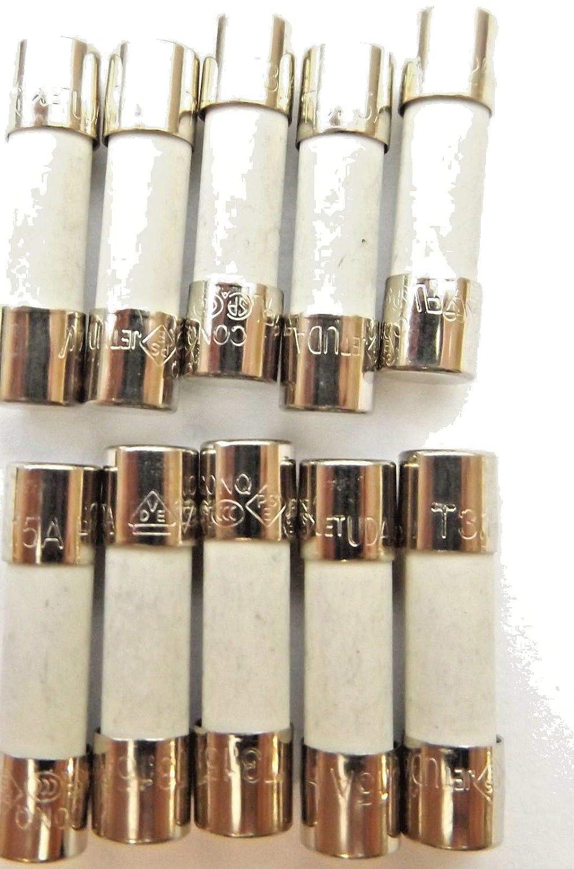 Fuse 3.15a 20mm HBC Antisurge/Time delay T3.15A H 250v Ceramic x10Pcs Conquer electronics