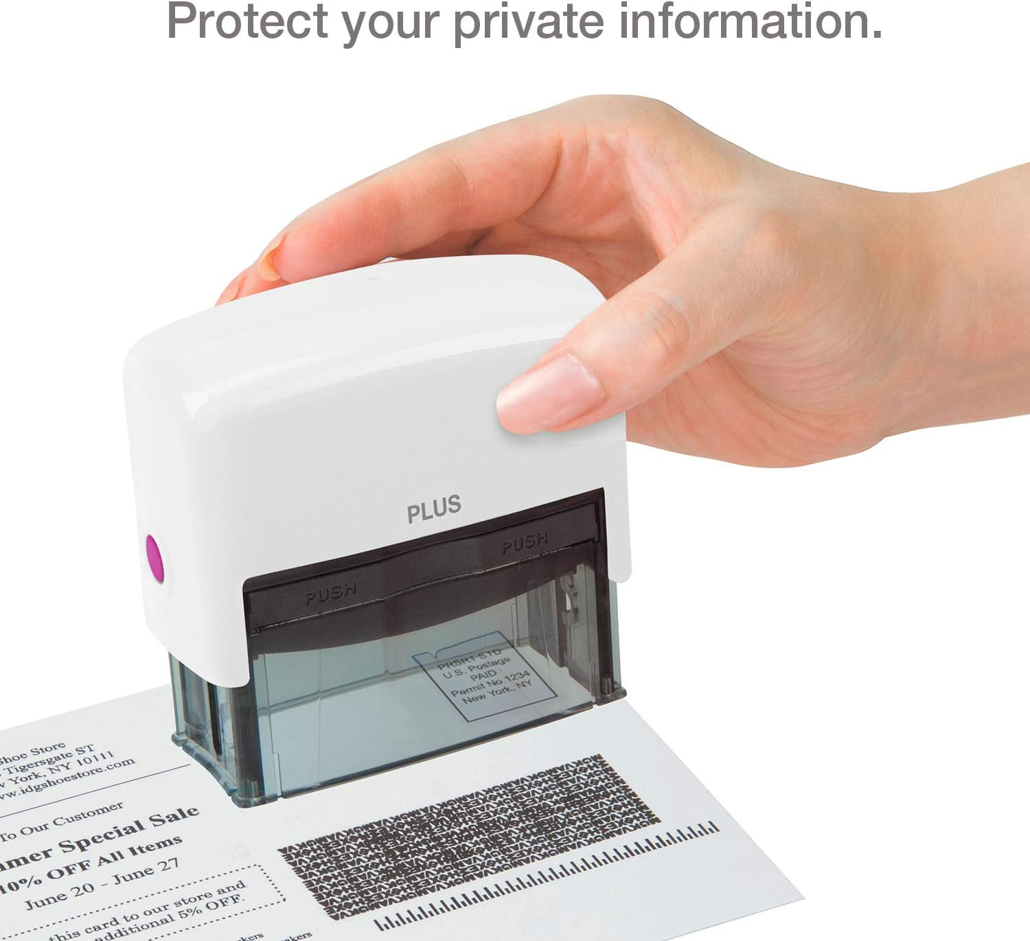 70637 Guard Your ID Identity Protection Security Stamp Large Refill 2 Pack Stamp Surface 2.75 x 1