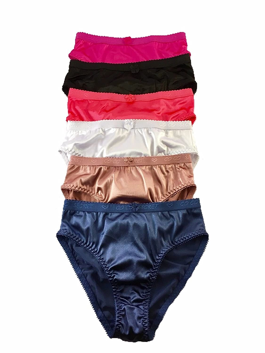 62f0825a2902 Peachy Panty 6 Pack Satin Shine Full Coverage Women's Panties Smooth Soft  Nylon: Amazon.ca: Luggage & Bags