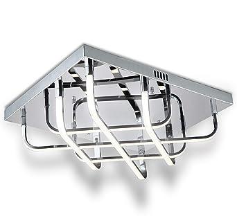 LED Design Deckenleuchte Deckenlampe Lüster Kreuz Muster Leuchte ...