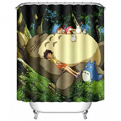 Image Unavailable Not Available For Color IKDJDYHDFD Totoro Shower Curtain