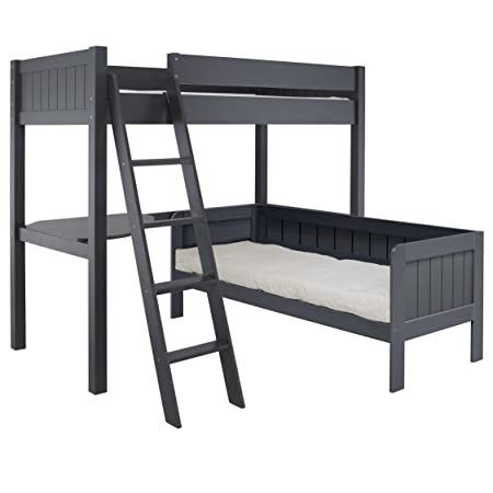Little Folks Furniture Fargo High Sleeper With Day Bed: Amazon.co.uk ...
