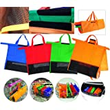 Bekith 4 Pack Trolley Bags – Eco Friendly Reusable Grocery Bags Perfect For Shopping Carts – Detachable, Foldable & Reusable Shopping Bag with Velcro