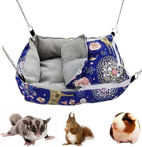 Deer on Grey Hedgehog Up North Rustics /& Co.\u2122 Heavy Duty Small Animal Sleep and Snuggle Sack Sugar Glider Rat Guinea Pig