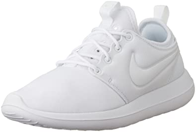 86a97806eacee NIKE Women s Roshe Two White White Pure Platinum Running Shoe 6.5 Women US