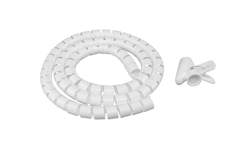 hicab cavo freno con einziehhilfe: 1,50m di lunghezza, diametro 25mm, colore bianco. Con il tubo cavo incluso Ausilio problemlos cavo nel tubo cavo Plastica Nascondo. TIKAL Communication
