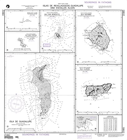 Amazon.com: Nga Chart 21661: Islas de Revillagigedo ...