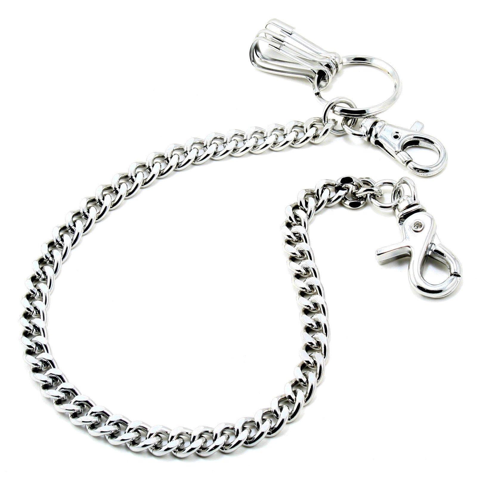 DoubleK Basic Strong Leash Biker Trucker Key Jean Wallet Chain (21'') Silver CS15420