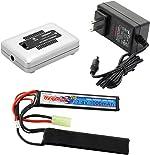 Tenergy Airsoft Battery Pack and LiPo/Life Balance Charger, 7.4V 1000mAh 20C