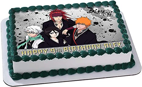 Stupendous Amazon Com Bleach Anime Edible Image Cake Topper Personalized Funny Birthday Cards Online Inifodamsfinfo