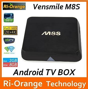 MU Vensmile M8S M8 Caja Android Smart TV Amlogic S812 Chip de 4 K 2G / 8G XBMC Dual WiFi Banda Completa HD Reproductor Multimedia androide 4.4 M8 TV Box: Amazon.es: Electrónica
