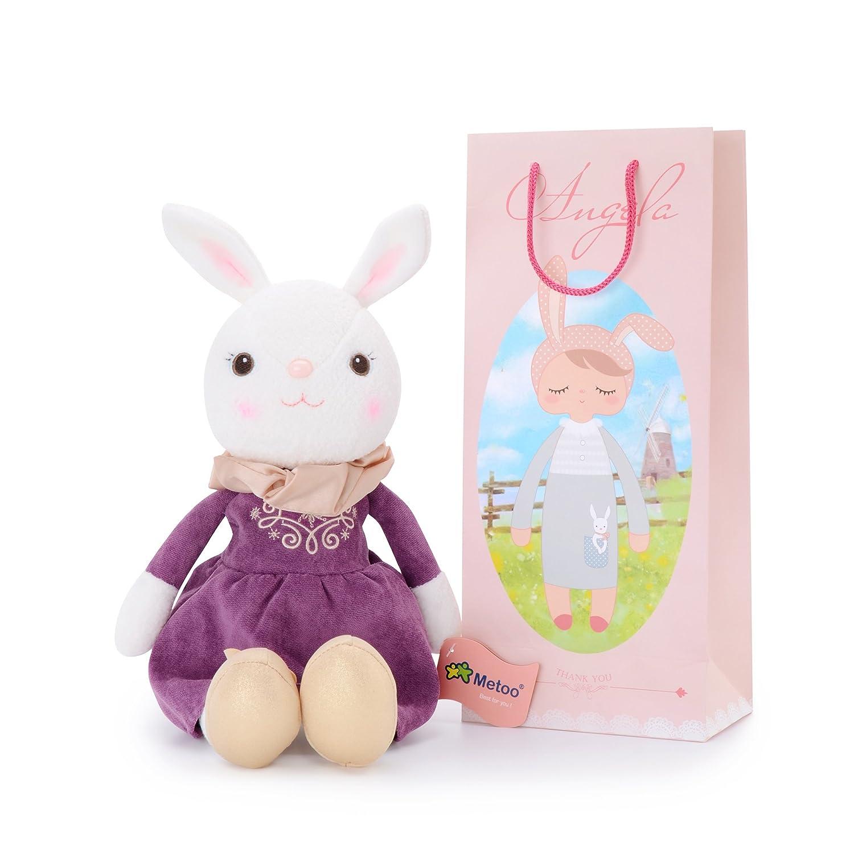 Metoo Coniglio di Stile Classico Bambola Vestito Rosa Bambini Bambino Giocattoli di Peluche Regali di Compleanno Regali 16'