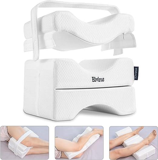 Memory Foam Knee Pillowcase Orthopedic Memory Foam Knee Wedge Pillow Case New