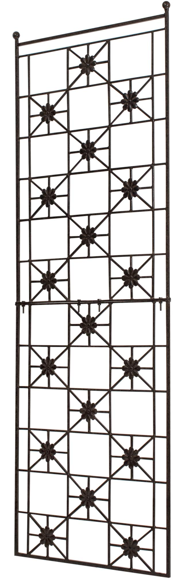 H Potter 5.5 Foot Tall Garden Flower Trellis Wrought Iron Heavy Scroll Metal Decoration Lawn, Patio & Wall Decor Screen for Rose, Clematis, Ivy Patio Deck Wall Art by H Potter (Image #4)