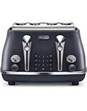 DeLonghi Icona Elements, 4 Slice Toaster, CTOE4003BL, Ocean Blue