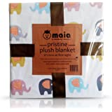 All Season Large 120x120 cm Elephant Design Extra Layered Muslin Unisex Baby and Toddler Super Soft Multi-Purpose 100% Cotton Blanket