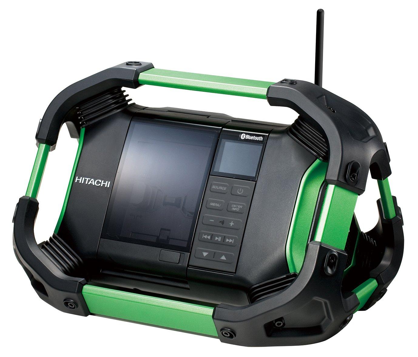 日立工機 14.4V 18V コードレスラジオ 充電式 Bluetooth機能搭載 AC100V使用可 蓄電池充電器別売り UR18DSDL(NN) 本体のみ B00S0QAV0A グリーン グリーン