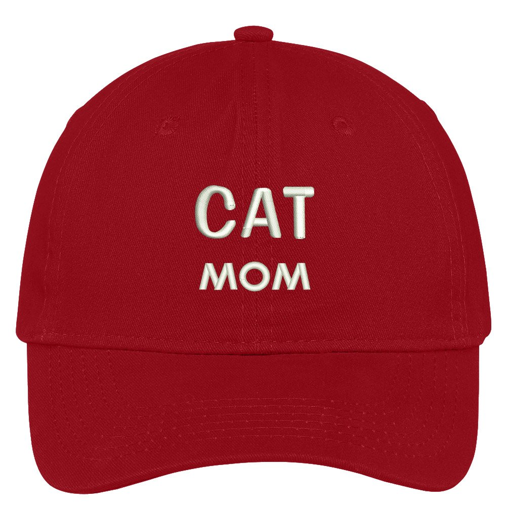 394e1abbc2c Trendy Apparel Shop Cat Mom Embroidered Low Profile Deluxe Cotton Cap Dad  Hat - Black at Amazon Women s Clothing store