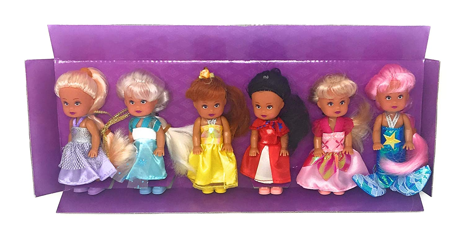 Little Princess Set of 6 Disney Look-A-Like Dolls Harbour Trade Toys SG/_B009QQ56TY/_US