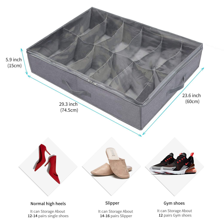 Medidas del organizador de zapatos para guardar bajo la cama